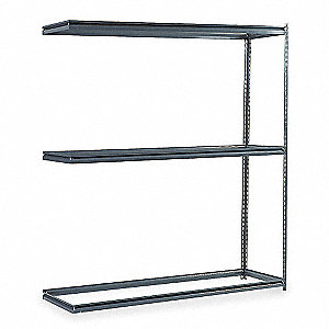 "Boltless Shelving,Add-On,84"" H,Gray"