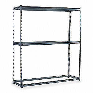Boltless Shelving Starter,96x48,3 Shelf
