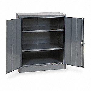 "Shelving Cabinet,42"" H,36"" W,Gray"