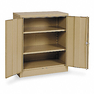 "Storage Cabinet, Tan, 42"" Overall Height, Unassembled"