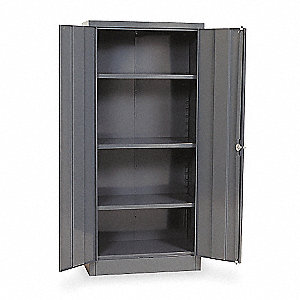 "Commercial Storage Cabinet, Gray, 66"" H X 30"" W X 18"" D, Unassembled"