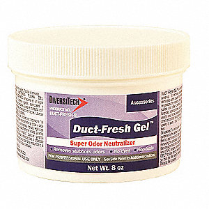 8 oz. Duct Odor Neutralizer, Waxy White Gel