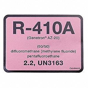 R-410A REFRIGERANT ID ETIQUETTES