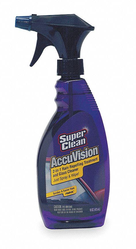 SUPERCLEAN Rain Repellent/Glass Cleaner, 16 oz , Spray