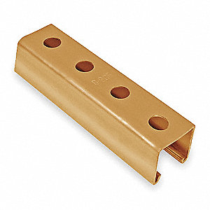 "Strut Channel,1-1/2"" W,20 ft. L,Gold"