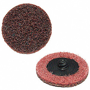 "3"" Quick Change Disc, Aluminum Oxide, TR, Medium, Non-Woven, ZK, EA1"