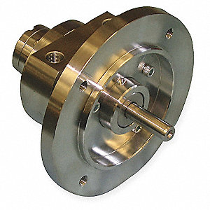 "4.31"" x 2.97"" x 2.38"" Face Mounted Air Motor with 3/8"" Shaft Dia. and 1/8"" NPT Port Size"