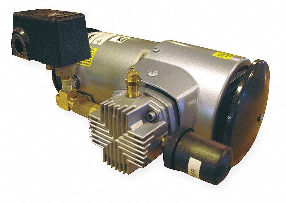 Gast 1 3 Hp Piston Air Compressor 115vac 50 50 Max Psi Cont Int 3hdg5 3lem 246s M345ex Grainger