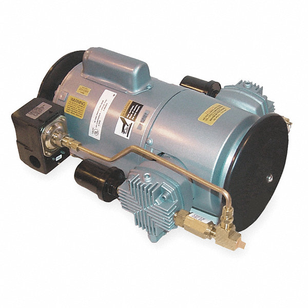 Gast 1 hp piston air compressor 115 230vac 50 50 max for Gast air motor distributors