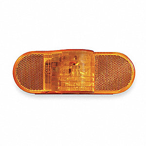 "Stop/Turn/Tail Light,Oval,Yellow,6-1/2""L"