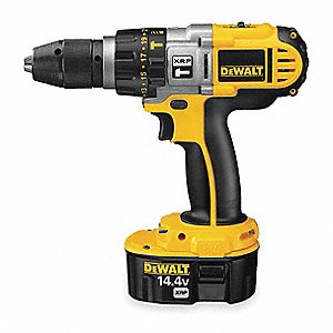 "1/2"" Cordless Hammer Drill/Driver Kit, 14.4 Voltage, Battery Included"
