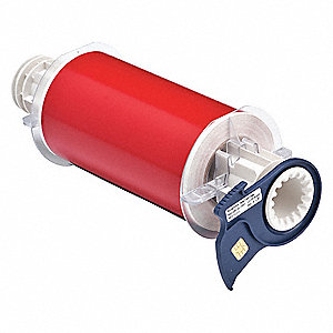 "Indoor/Outdoor Vinyl Film Label Tape Cartridge, Red, 6""W x 50 ft."