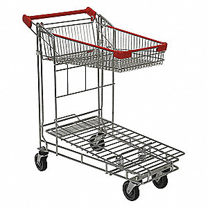 Wire-Sided Platform Truck,36-7/16 In. L