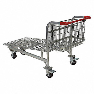 Wire-Sided Platform Truck,59-1/4 In. L
