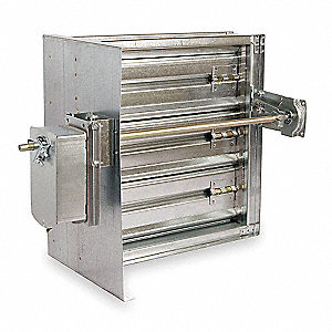 Square Smoke Damper,15-3/4 In. W