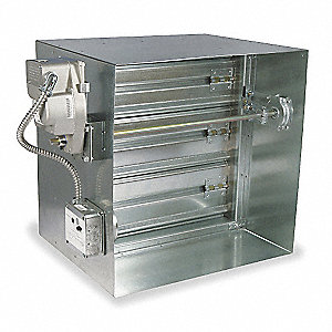 Square Fire/Smoke Damper, 23-3/4 In. H