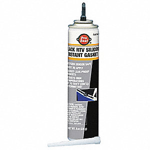 Oil-Resistant Black RTV Silicone Gasket Maker, 8 oz.