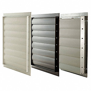 "24"" Agricultural Wall Exhaust Shutter / PVC Shutter, 24-3/4"" x 24-3/4"" Opening Required"