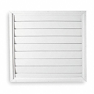 "24"" Whole House Fan Economy Ceiling Shutter / Ceiling Shutter, 24"" x 24"" Opening Required"