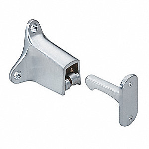 Door Stop,Wall-Mount,Satin Chrome