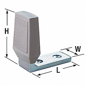 Angle Door Stop,Floor Mount,Zinc-Plated
