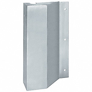 "Satin Stainless Steel Door Latch Protector, In or Out Opening Doors, Length 10"", Width 6"""