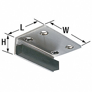 "Header Door Stop,Satin Nickel,3"" x 2"""