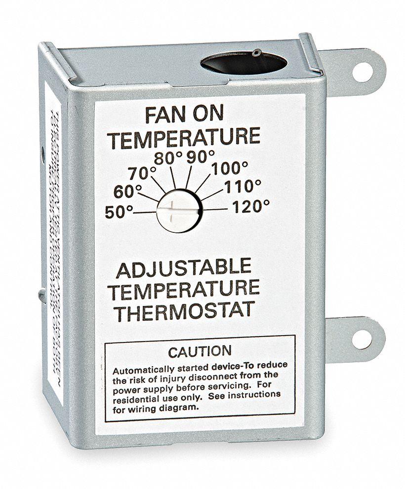 Air Vent Attic Fan Thermostat Range 4a 3hjn6 58070 Grainger