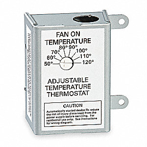 Air Vent Attic Fan Thermostat Range 4a 3hjn6 58070