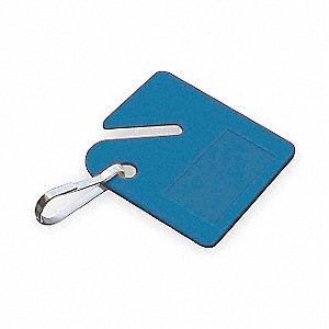"1-1/2"" x 1-1/2"" Square-Slotted Blank Key Tag, Assorted&#x3b; PK20"