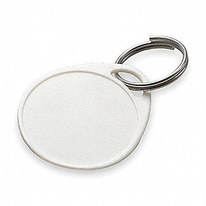 LABEL-IT TAG WITH RING,WHITE,PK 25
