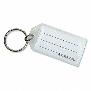 ID Key Tags with Flap,Clear,PK10
