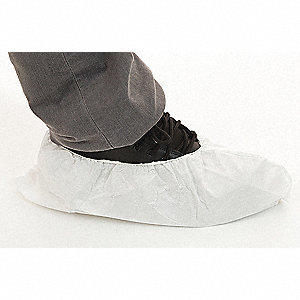 "Universal Shoe Covers, Slip Resistant Sole: No, Waterproof: No, 6"" Height"