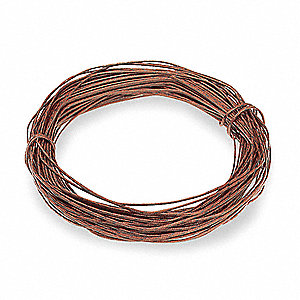 Thermocouple Wire,  20 AWG,  Glass Braid,  J,  100 ft.,  Brown