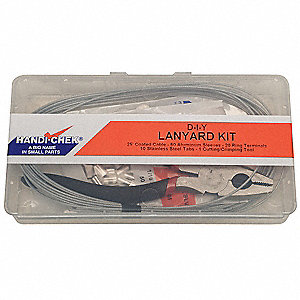 Lanyard Assembly Kit,3/64 In,Galv