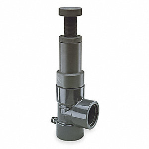 PVC Adjustable Relief Valve, FNPT Inlet Type, FNPT Outlet Type