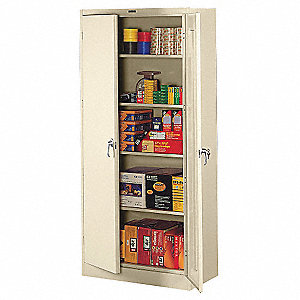 "Storage Cabinet, Champagne/Putty, 78"" Overall Height, Unassembled"