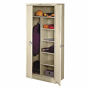 Combo Storage Cabinet,Welded,Putty