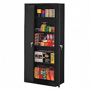 Commercial Storage Cabinet Black 78  H X 36  W X 18  ...  sc 1 st  Grainger & TENNSCO Commercial Storage Cabinet Black 78