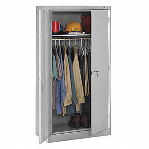 "Commercial Storage Cabinet, Light Gray, 72"" H X 36"" W X 18"" D, Unassembled"