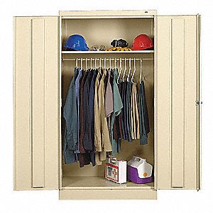 "Commercial Storage Cabinet, Champagne/Putty, 72"" H X 36"" W X 18"" D, Unassembled"