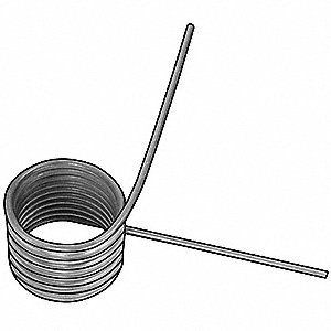 "270 Degree Carbon Steel Music Wire Torsion Spring with 0.353"" Outside Dia."