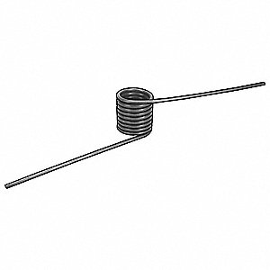 "180 Degree Carbon Steel Music Wire Torsion Spring with 0.130"" Outside Dia."