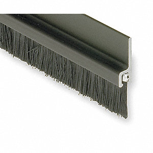 Double Door Weatherstrip,8 ft,Gray