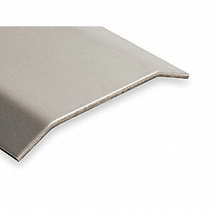"6 ft. x 4"" x 1/2"" Smooth Top Saddle Threshold, Silver"