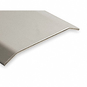 "6 ft. x 5"" x 1/2"" Smooth Top Saddle Threshold, Silver"