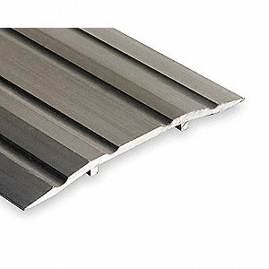 "4 ft. x 4"" x 1/4"" Fluted Top Saddle Threshold, Silver"