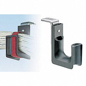 Black J-Hook, Ceiling Mounting Location, 115 lb. Max. Load Capacity