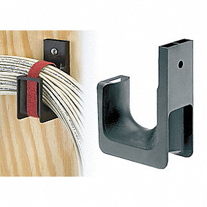 Black J-Hook, Wall Mounting Location, 115 lb. Max. Load Capacity