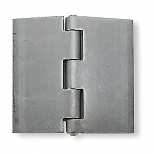 "3"" x 2"" Butt Hinge with Stainless Steel Finish, Full Surface Mounting, Square Corners"